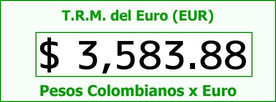 T.R.M. del Euro para hoy Viernes 28 de Agosto de 2015