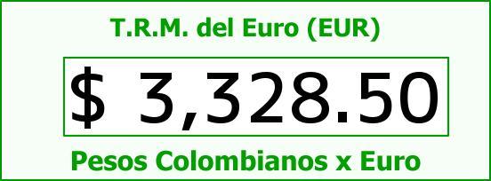 T.R.M. del Euro para hoy Viernes 29 de Abril de 2016