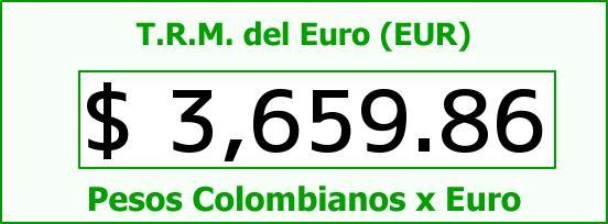 T.R.M. del Euro para hoy Viernes 29 de Enero de 2016