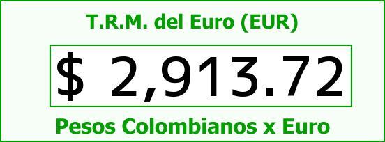 T.R.M. del Euro para hoy Viernes 3 de Julio de 2015