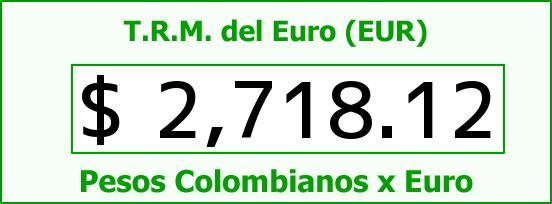 T.R.M. del Euro para hoy Viernes 30 de Enero de 2015