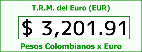 T.R.M. del Euro para hoy Viernes 30 de Octubre de 2015