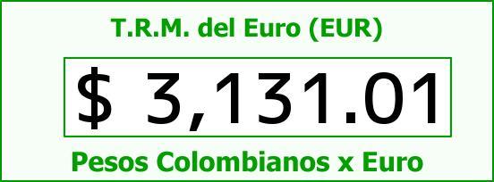 T.R.M. del Euro para hoy Viernes 31 de Julio de 2015