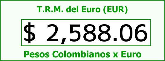 T.R.M. del Euro para hoy Viernes 31 de Octubre de 2014