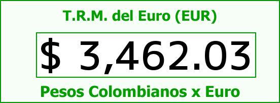 T.R.M. del Euro para hoy Viernes 4 de Septiembre de 2015