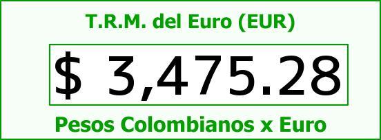 T.R.M. del Euro para hoy Viernes 5 de Agosto de 2016