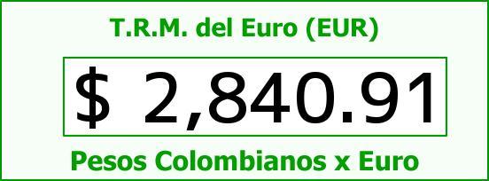 T.R.M. del Euro para hoy Viernes 5 de Diciembre de 2014