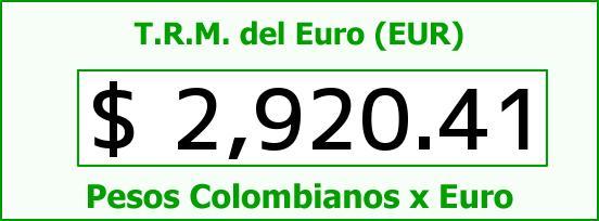 T.R.M. del Euro para hoy Viernes 5 de Junio de 2015