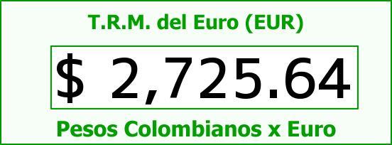 T.R.M. del Euro para hoy Viernes 6 de Febrero de 2015