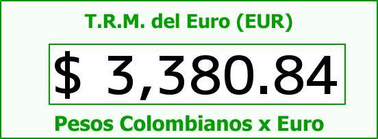 T.R.M. del Euro para hoy Viernes 6 de Mayo de 2016