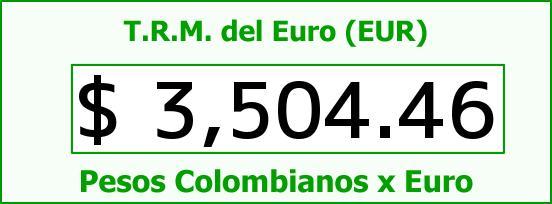 T.R.M. del Euro para hoy Viernes 8 de Abril de 2016