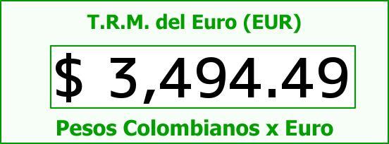T.R.M. del Euro para hoy Viernes 8 de Enero de 2016