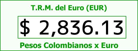 T.R.M. del Euro para hoy Viernes 9 de Enero de 2015