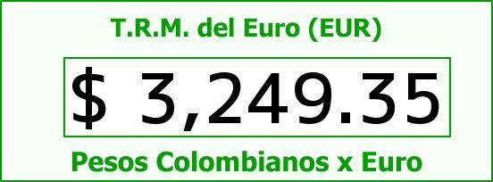 T.R.M. del Euro para hoy Viernes 9 de Octubre de 2015