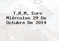 TRM Euro Colombia, Miércoles 29 de Octubre de 2014