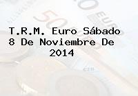 TRM Euro Colombia, Sábado 8 de Noviembre de 2014
