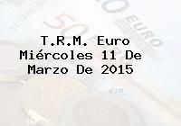 TRM Euro Colombia, Miércoles 11 de Marzo de 2015