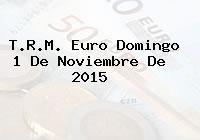 T.R.M. Euro Domingo 1 De Noviembre De 2015