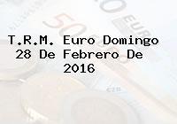 T.R.M. Euro Domingo 28 De Febrero De 2016