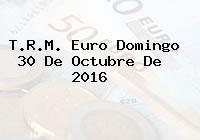T.R.M. Euro Domingo 30 De Octubre De 2016