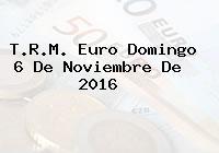 T.R.M. Euro Domingo 6 De Noviembre De 2016